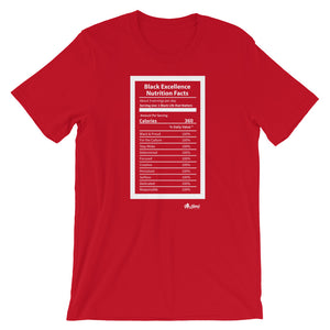 Black Excellence Nutrition Facts T-Shirt