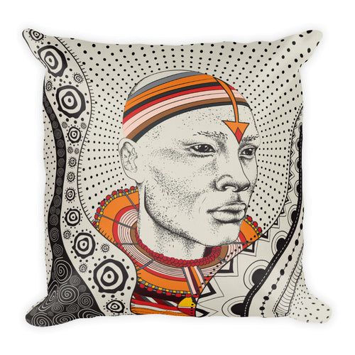 Maasai Warrior  Pillow