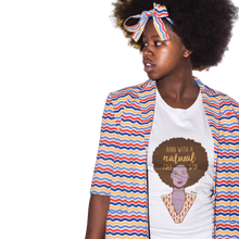 Load image into Gallery viewer, Born w/ a Natural Crown Women's t-shirt