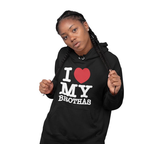 i love my brothas hoodie| black women love black men