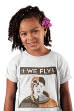 Load image into Gallery viewer, We Fly Black History Month T-Shirt (Childrens) | Black Astronauts