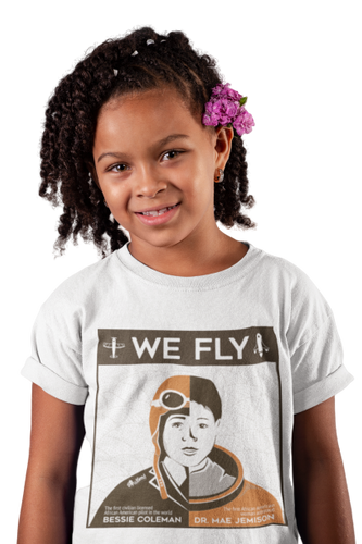 We Fly Black History Month T-Shirt (Childrens) | Black Astronauts