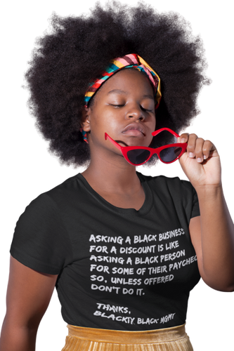 Black Business Etiquette T-Shirt| Minding my black owned business