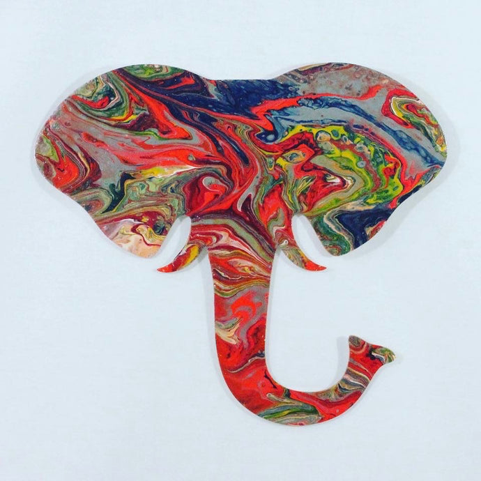 Elephant Flip Pour Canvas