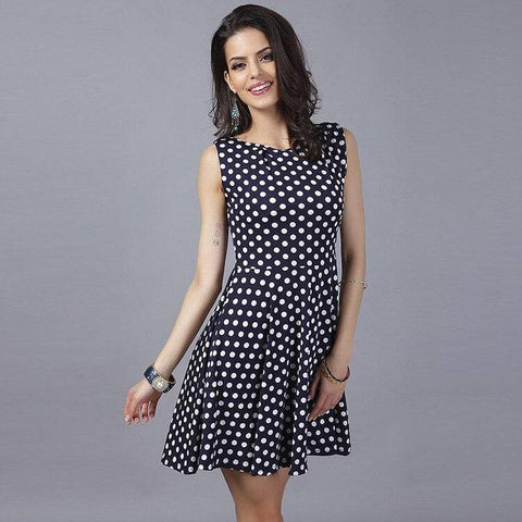 Robe retro a pois <br>