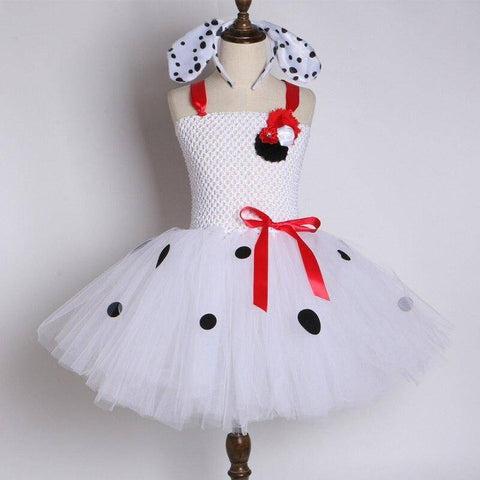 Robe tulle a pois <br>tutu fille