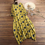 Robe a pois grande taille <br>longue automne