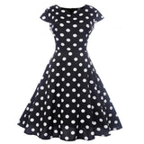 robe pin up a pois noir et blanc