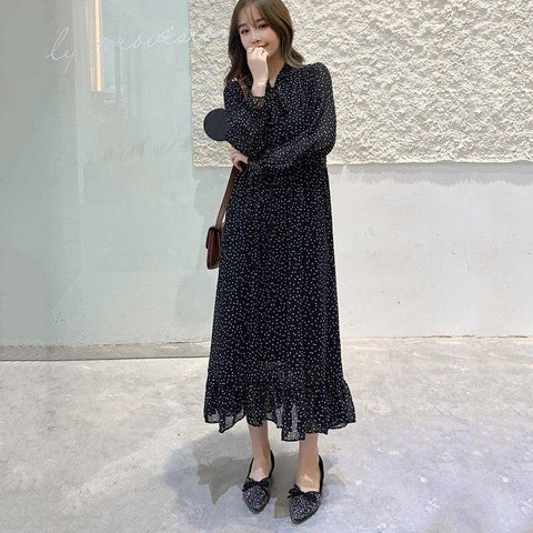 Robe a pois grande taille <br>mode