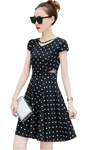 robe korean style a pois courte