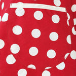 Robe retro a pois <br>rouge