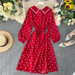 robe chemisier retro