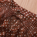 robe marron a pois blancs