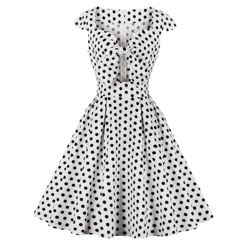robe rock chic a pois annee 50 glamour