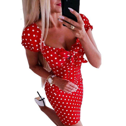 robe american vintage a pois