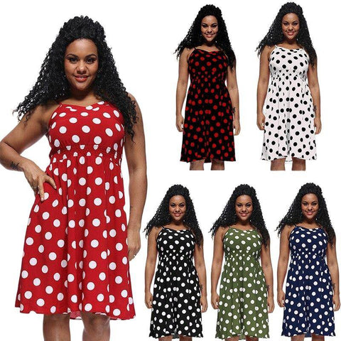 robe grande taille a pois