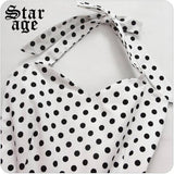 Robe d ete a pois <br>decontractee