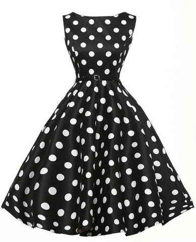 robe vintage a pois pinup