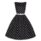 robe a pois annee 50 femmes taille party noir