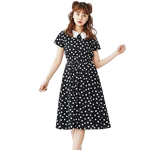 robe cocktail rock a pois annee 50 bateau