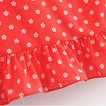 Robe a pois courte <br>ete rouge