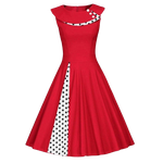 robe pin up rouge a pois annee 50