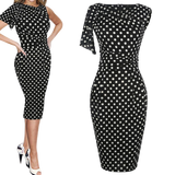robe soiree a pois papillon