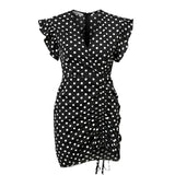 robe bustier a pois