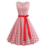 robe a pois carreau rouge