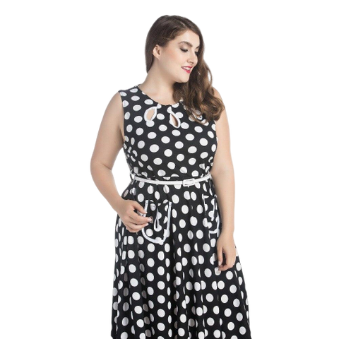 robe vintage a pois annee 50 grande taille