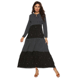 robe longue a pois grande taille