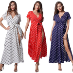 robe longue a pois american vintage