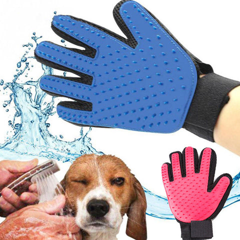 Silicone Dog/Cat Brush. Gentle Grooming Glove.