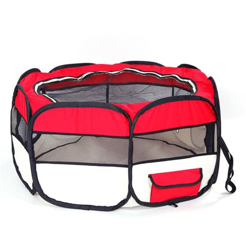 "Dog Playpen 36"" Portable Foldable Oxford Mesh Cloth"