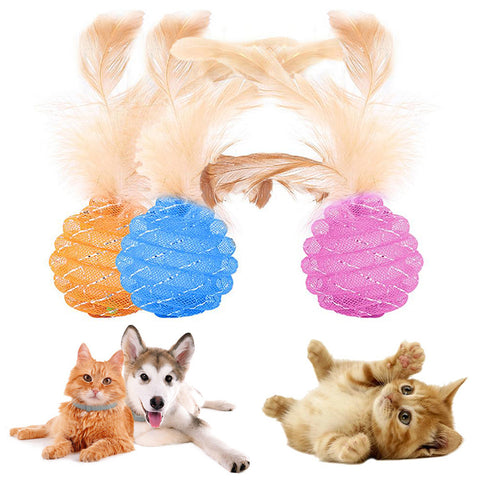 Cat Interactive Ball With Feather/Jingle Bell.