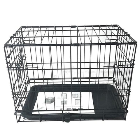 "20 "" Pet Folding Steel Crate Black Metal Cage"