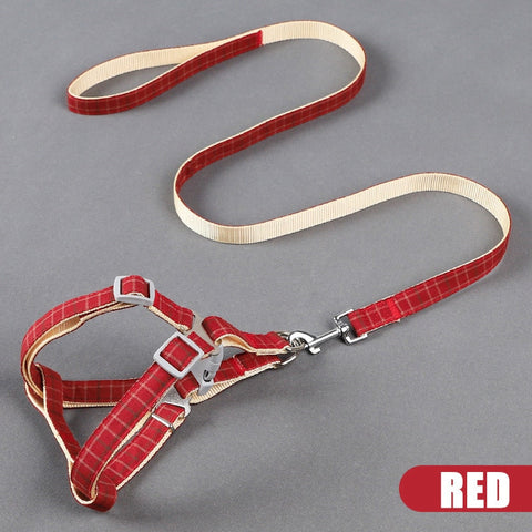 Cat/Dog Harness Adjustable with Leash /Soft Collar