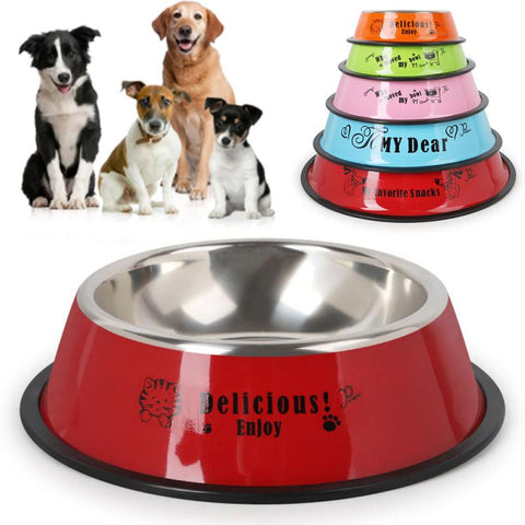Stainless Steel Non-Slip Animal Feeding Bowl