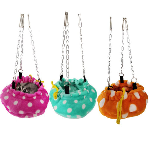 Small Animal Warm Hanging Chains Swing Bed