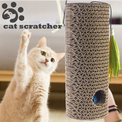 Cat Scratching Post, Corrugated Paper Board.