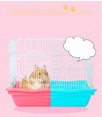 Lovely Hamster Cage Big Space Small bed.