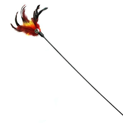 Cat Stick Feather With Small Bell, Interactive Teaser
