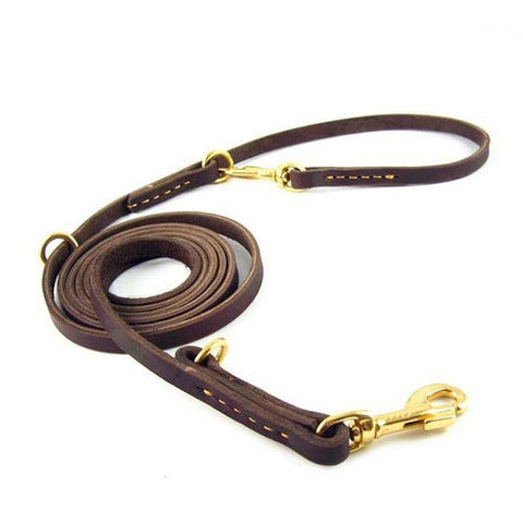 Multifunction Genuine Leather Luxury Dog Leash/quick release