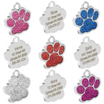 Personalized, Engraved Bone/Paw Cat/Dog Tags