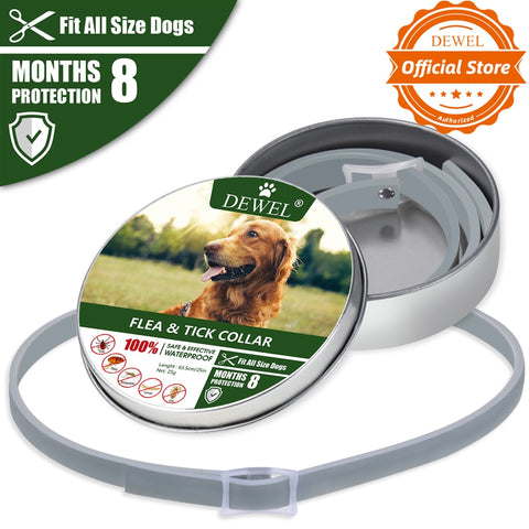 Dewel Dog Collar Anti Flea Mosquitoes Ticks.