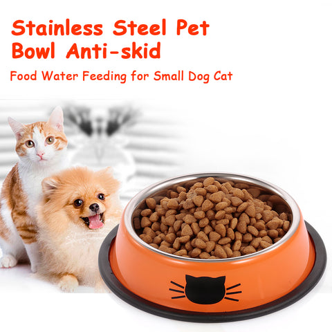 Stainless Steel Anti-skid Dog/Cat Bowl .