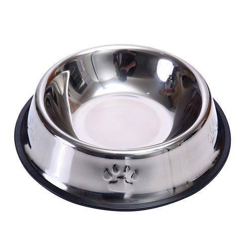 Dog /Cat Stainless Steel Anti-Skid  Bowl