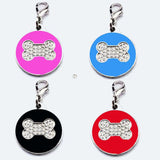 Zinc Alloy Pet ID Tag . Rhinestone Pattern.