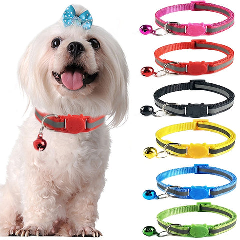 Novelty Cat/Dog reflective collar with Bell.