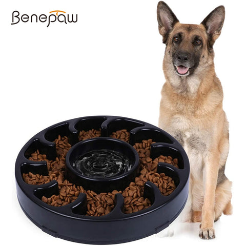 Benepaw Quality Dog Bowl Slow Feeder Durable Eco-friendly Nonslip Slow Feeding Pet Bowl For Small Medium Large Dogs Puppy Eating